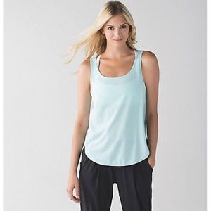 Lululemon Straight Up Tranquil Blue Singlet